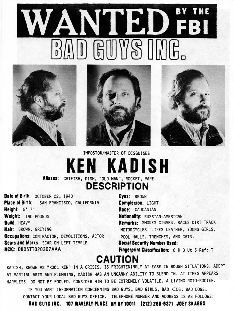 Ken Kadish's headshot (back) from Bad Guys Talent Management Agency