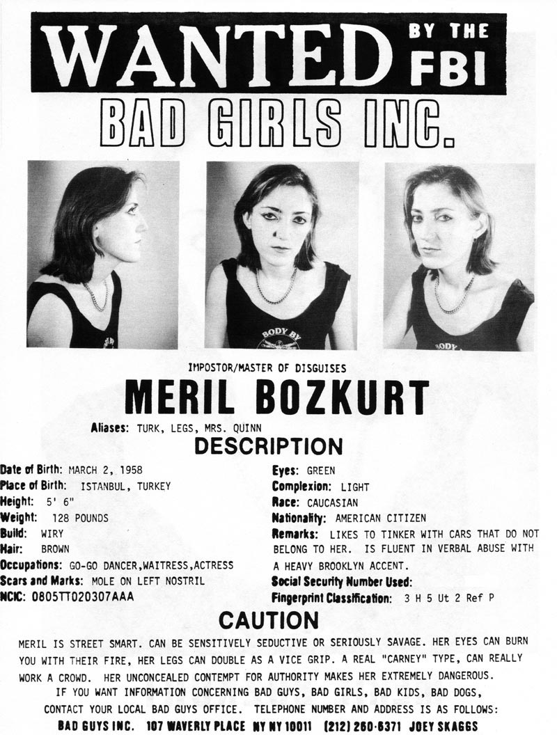 Meril Bozkurt's headshot (back) from Bad Guys Talent Management Agency