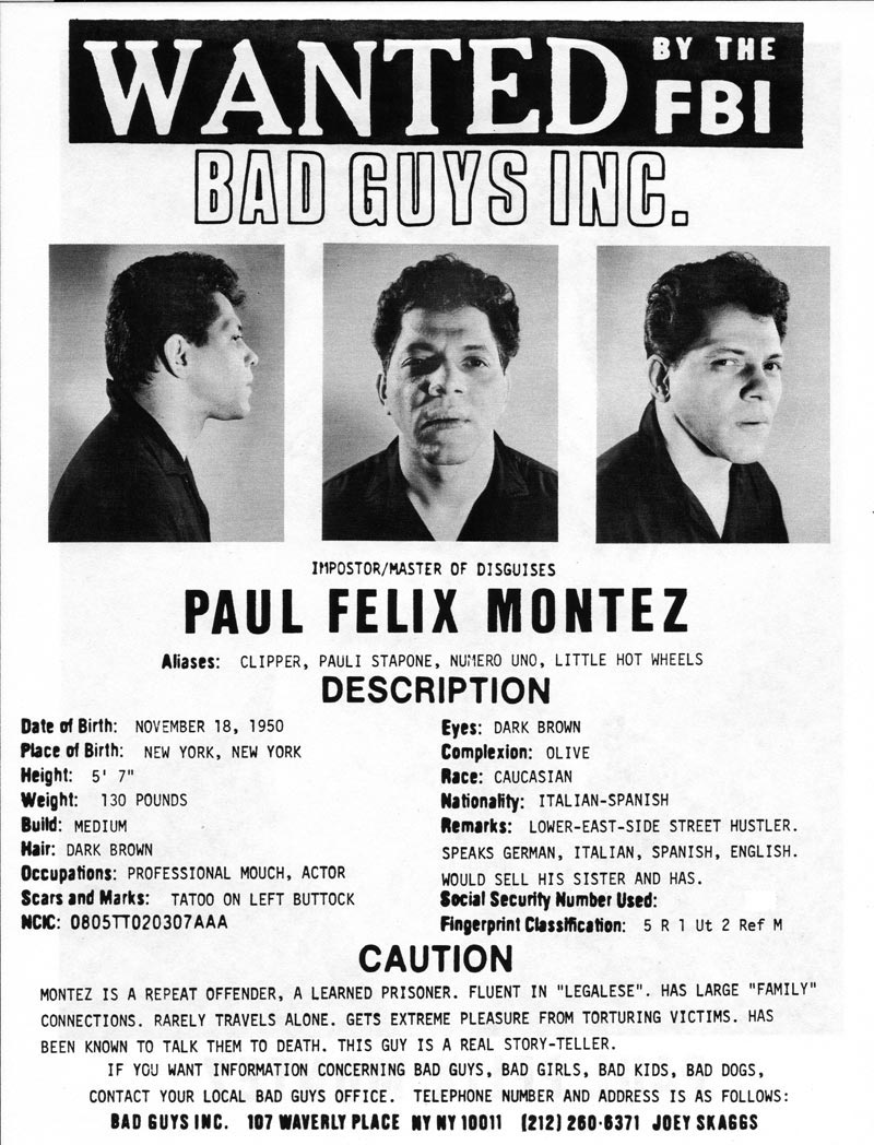 Paul Felix Montez's headshot (back) from Bad Guys Talent Management Agency