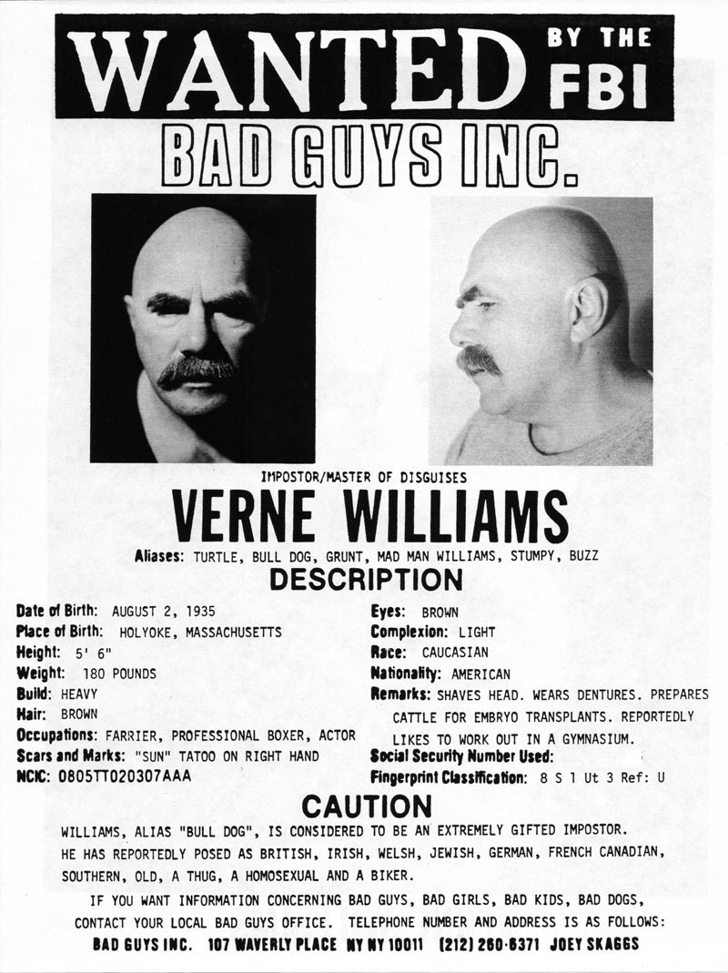 Verne Williams' headshot (back) from Bad Guys Talent Management Agency