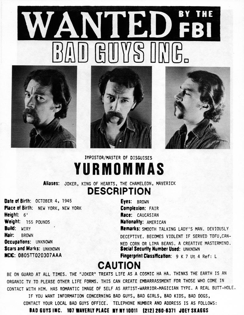 Yurmommas' headshot (back) from Bad Guys Talent Management Agency