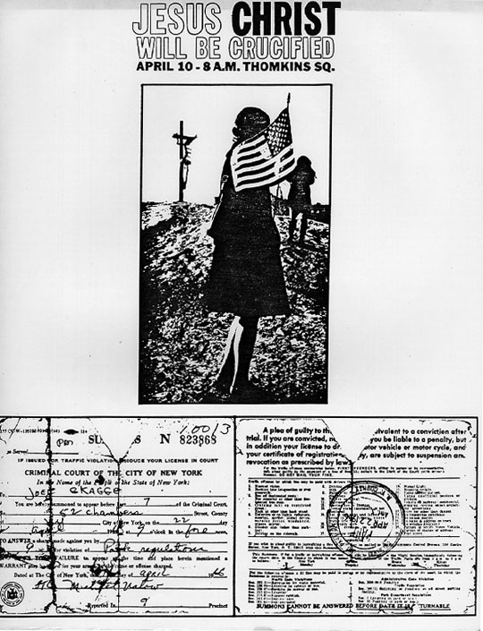Joey Skaggs Crucifixion Poster + Citation
