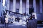 Joey Skaggs Hangs Fifty Foot brassier on U.S. Treasury Building