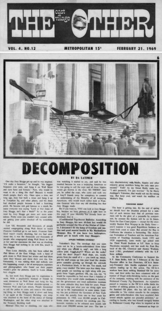 Decomposition, by DA Latimer, East Village Other, February 21, 1969