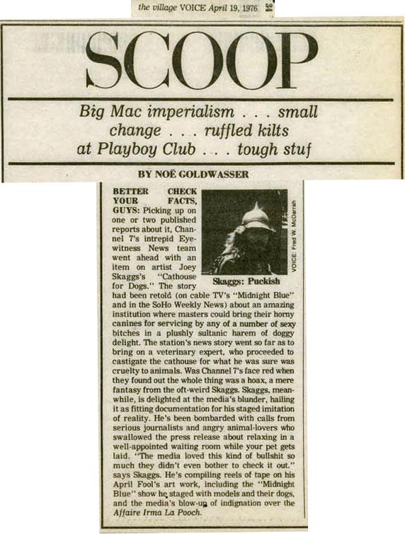 Village Voice, Scoop, April 19, 1976