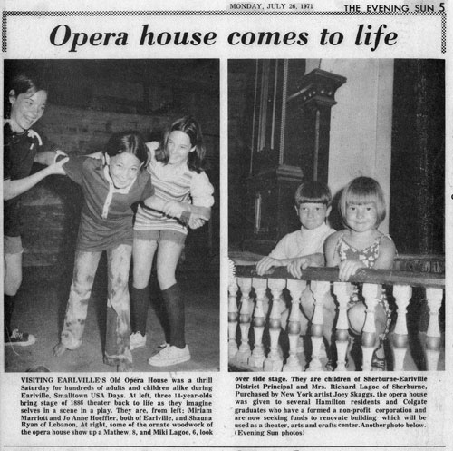 Opera house comes to life, The Evening Sun, July 26, 1971