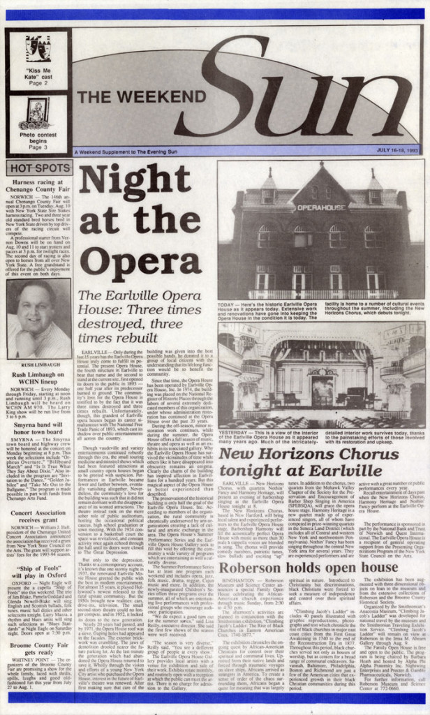 Night at the opera, The Weekend Sun, July 16, 1993
