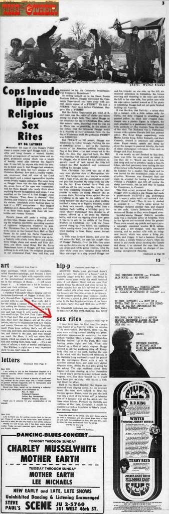Cops Invade Hippie Religious Sex Rites, DA Latimer, East Village Other, January 10, 1969