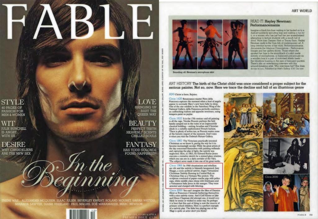 Art History, Fable magazine