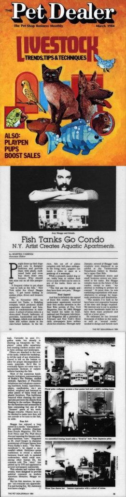 Fish Tanks Go Condo, by Martha Carroll, Pet Dealer, March 1984