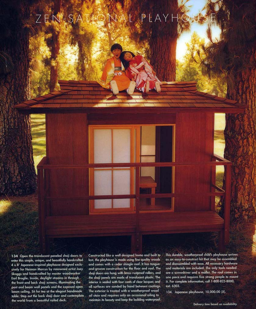 Zen-sational Playhouse, Neiman Marcus Christmas Catalog, November, 1996
