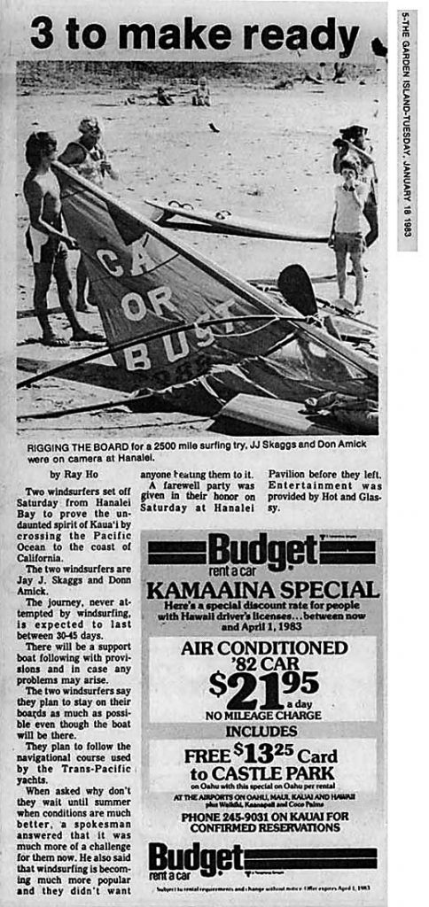 3 to make ready, Garden Island News, January, 18, 1983