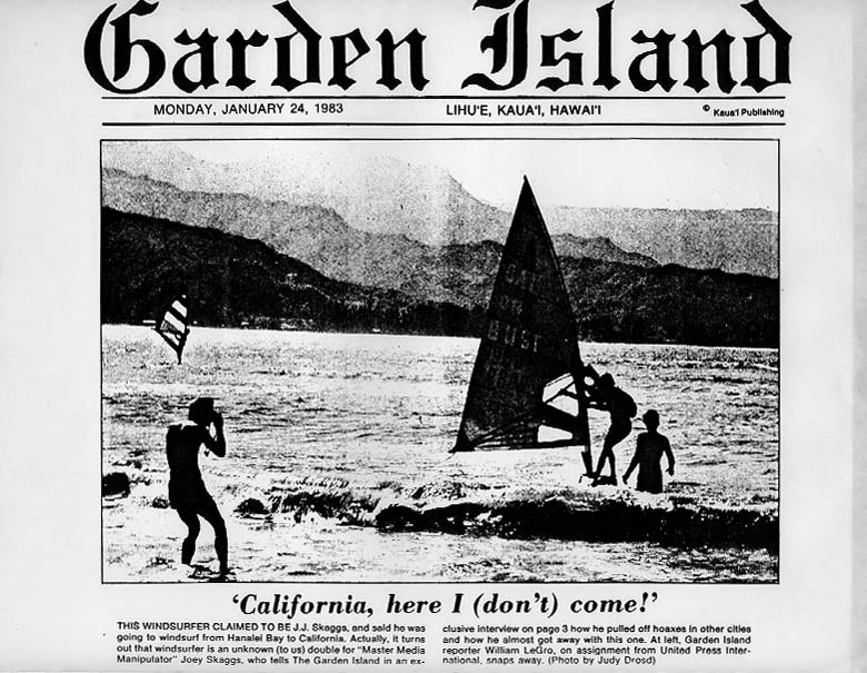 """California, here I (don't) come"", Garden Island News, January 24, 1983"