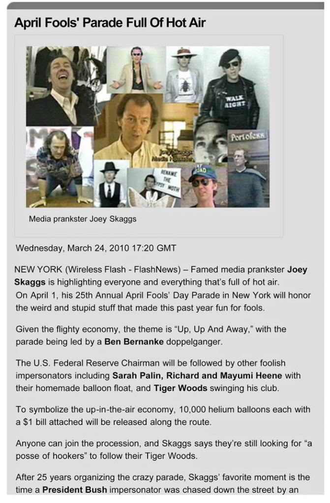 April Fools' Parade Full Of Hot Air, Flashnews, March 24, 2010