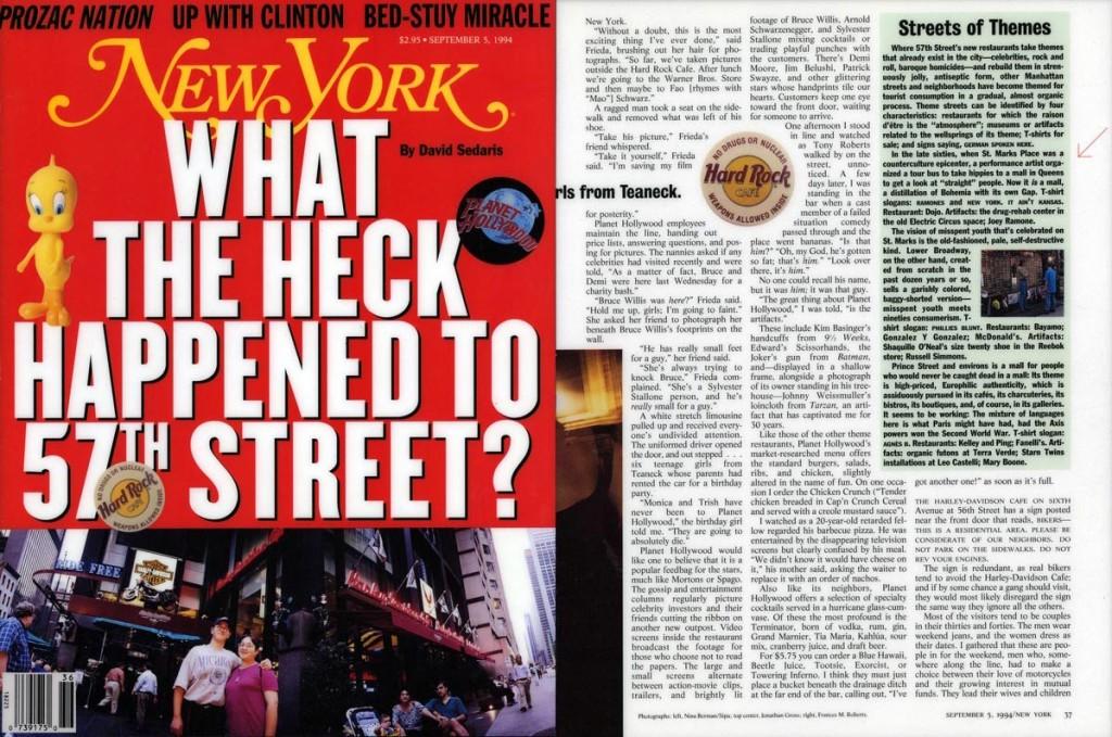 Street of Themes, New York, September 5, 1994