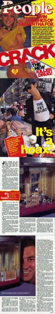 It's a hoax!, by Pamela Lesmond, People (Australia), July 14, 1986