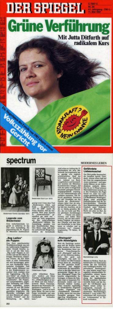 Gefährdete Liebesmuschel Der Spiegel, May 11, 1987