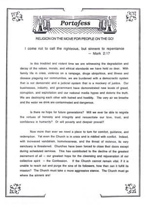 Portofess Manifesto