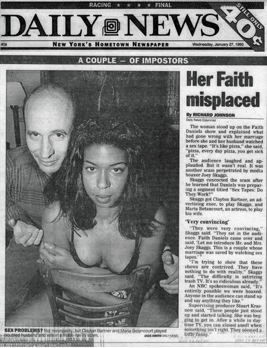 Her Faith misplaced, by Richard Johnson, Daily News, January 27, 1993