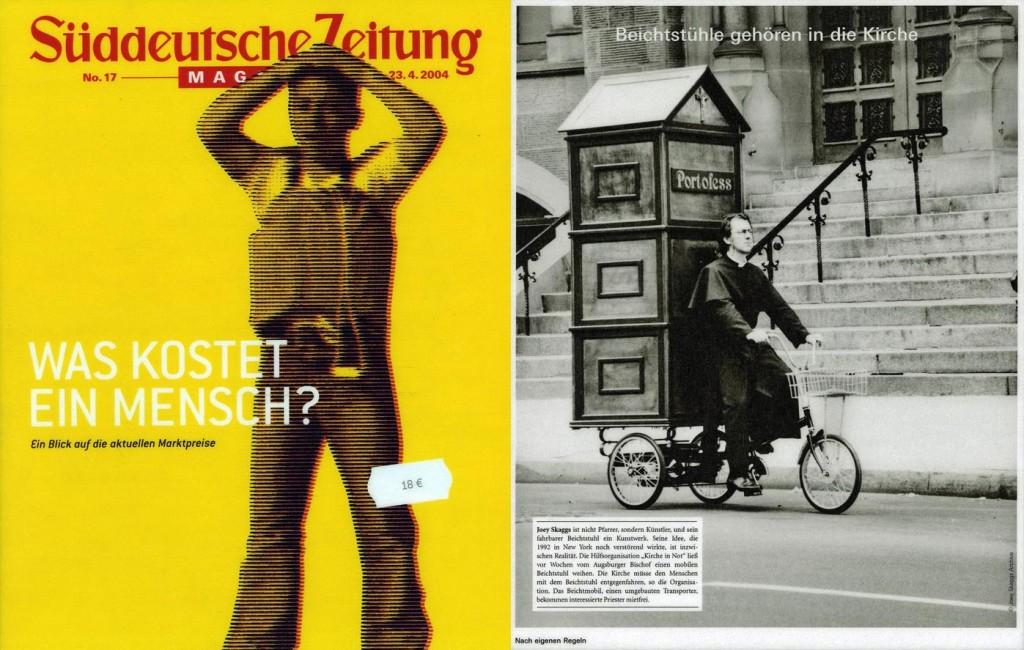 Beichtstühle gehören in die Kirche, Suddeuthsche Zeitung (German), April 23, 2004
