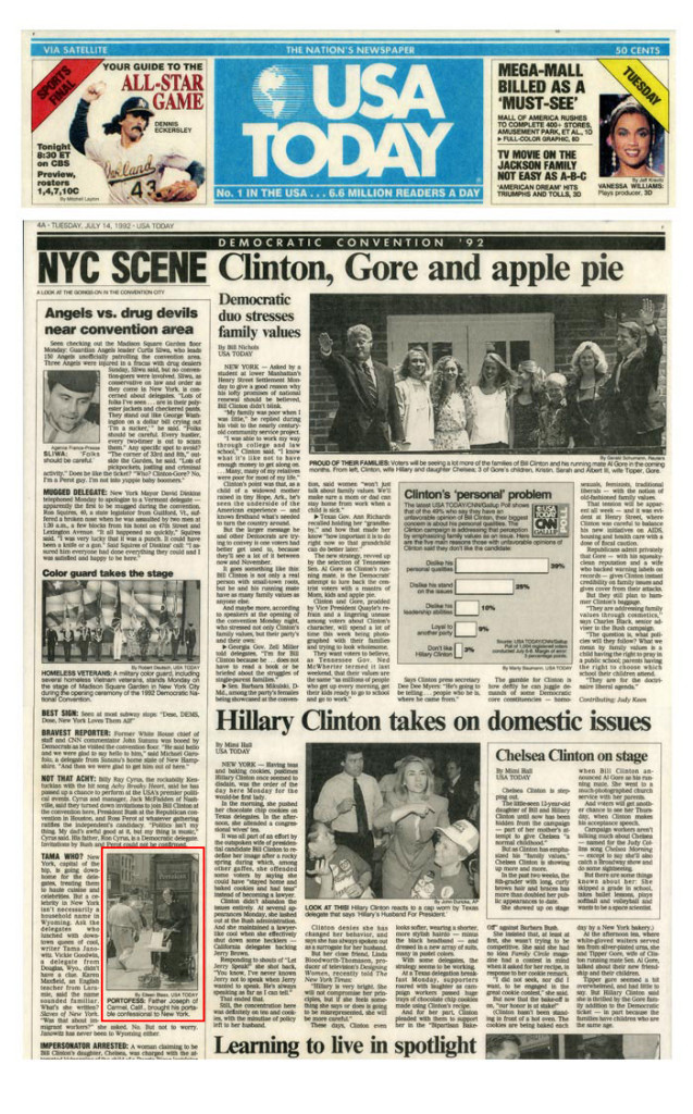 Portofess, USA Today, July 14, 1992