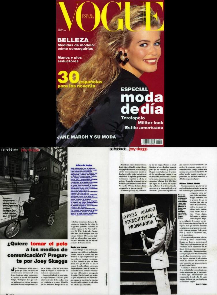 Se habla de: joey skaggs, Vogue (Spanish), October, 1992