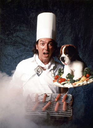 Joey Skaggs as Kim Yung Soo, a Korean businessman offering to buy unwanted dogs for $.10 a pound, in his Dog Meat Soup hoax