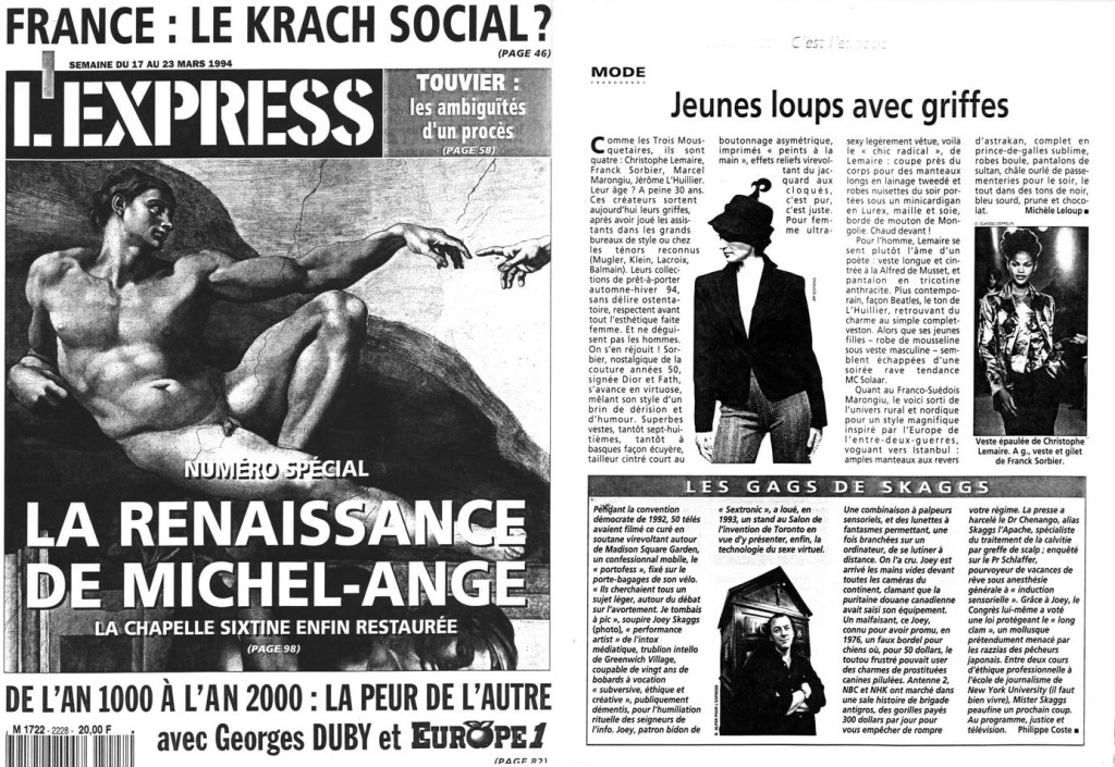 Les Gags de Skaggs, by Philippe Coste, L'Express, March 23, 1994