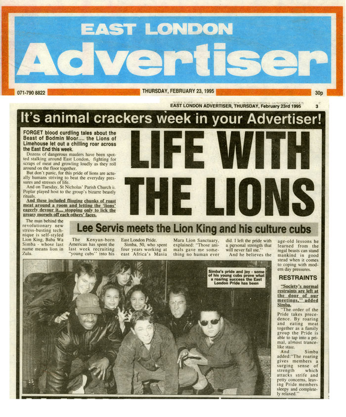 Life with the Lions, East London Advertiser, February 23, 1995