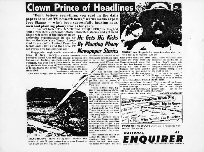 Clown Prince of Headlines, National Enquirer, January 3, 1984