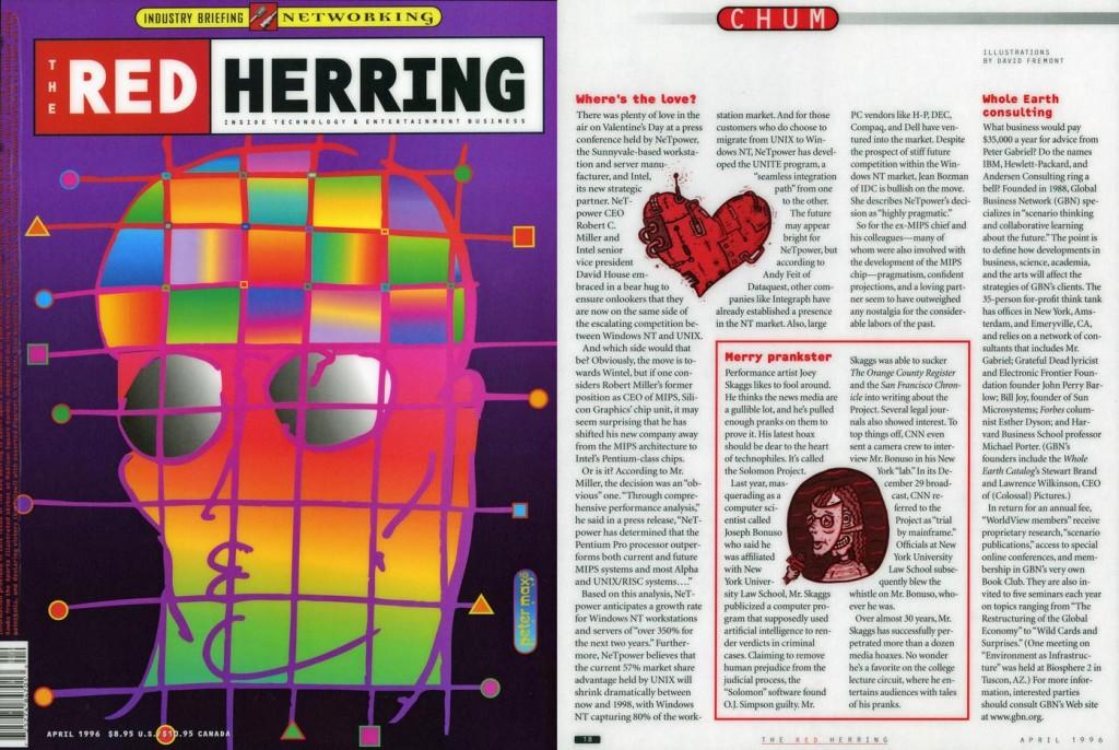 Chum: Merry Prankster, Red Herring, April 1996