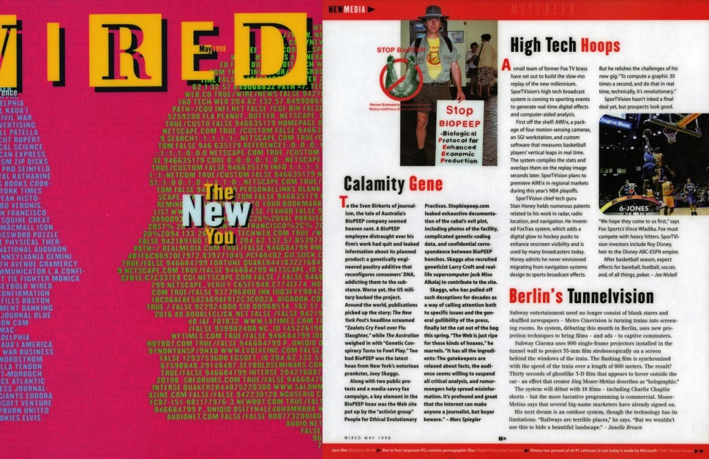 New Media: Calamity Gene, by Marc Spiegler, Wired, May 1998