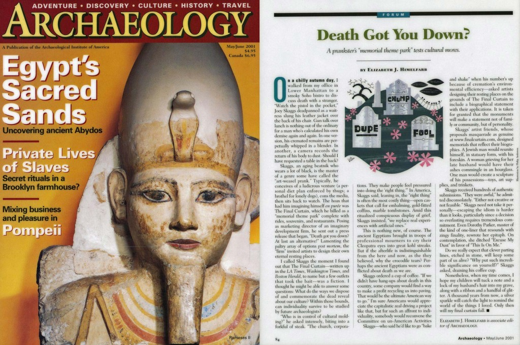 Forum: Death Got You Down?, Archaeology, May 2001