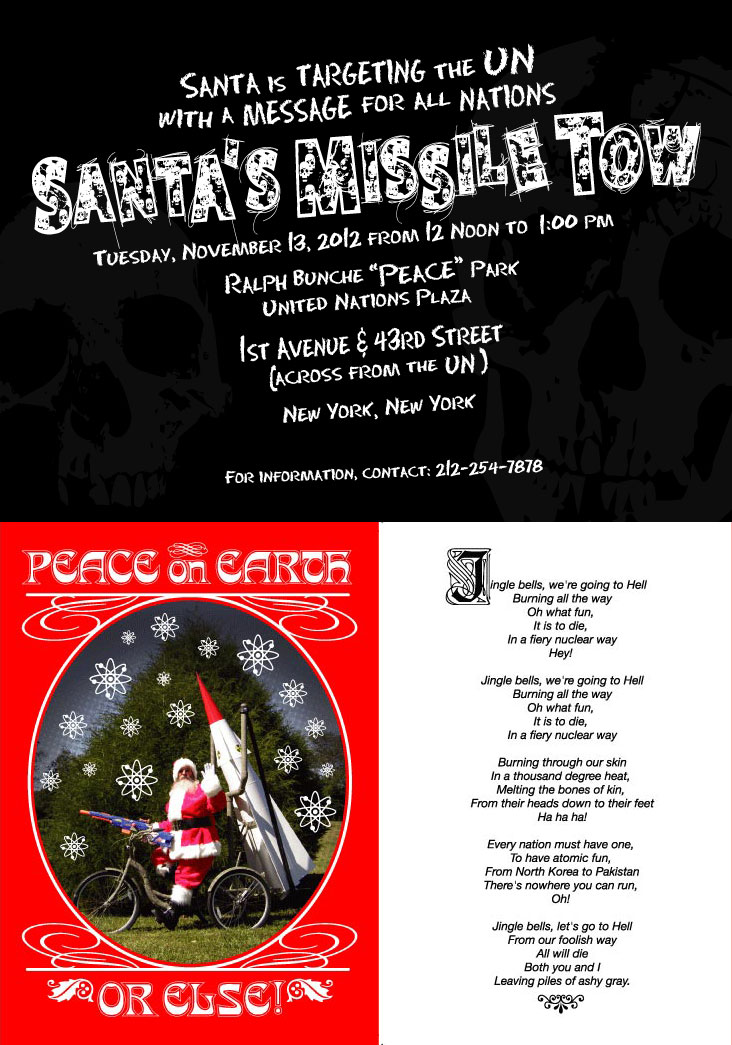 Joey Skaggs' Santa's Missile Tow greeting card