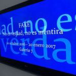 """Fake"" exhibition billboard at IVAM"