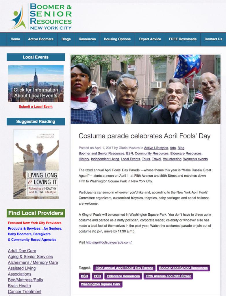 Costume Parade Celebrates April Fools' Day, Eldercare, April 1, 2017